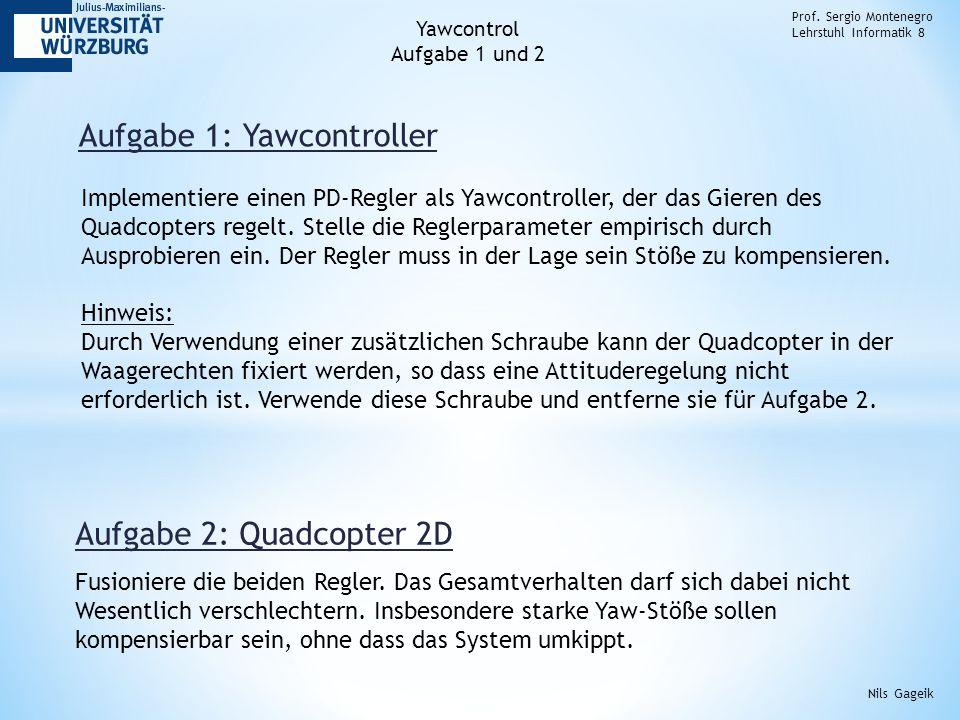 Aufgabe 1: Yawcontroller Prof.