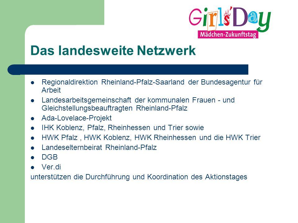 Das landesweite Netzwerk Regionaldirektion Rheinland-Pfalz-Saarland der Bundesagentur für Arbeit Landesarbeitsgemeinschaft der kommunalen Frauen - und