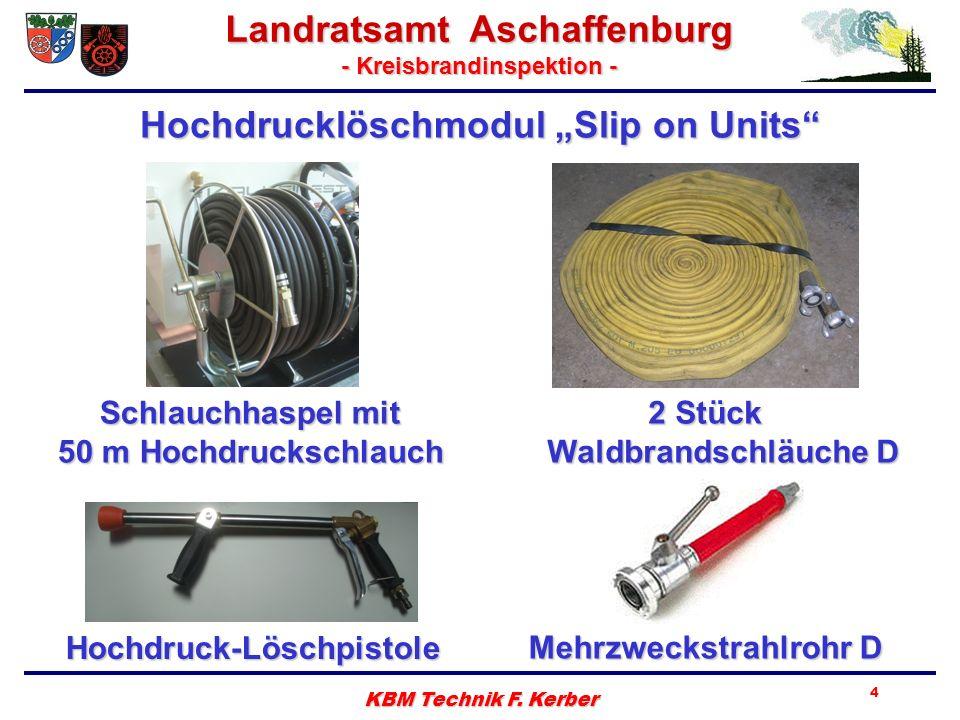 Landratsamt Aschaffenburg - Kreisbrandinspektion - KBM Technik F. Kerber 4 Hochdruck-Löschpistole Schlauchhaspel mit 50 m Hochdruckschlauch Mehrzwecks