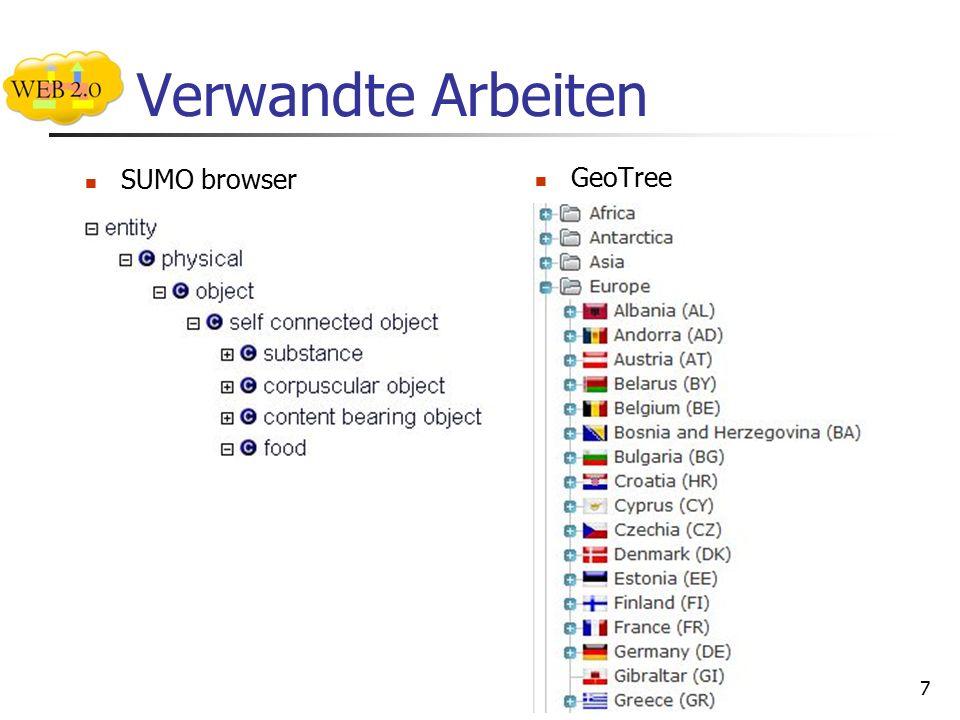 Verwandte Arbeiten SUMO browser GeoTree 7