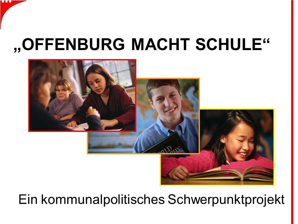"""""""OFFENBURG MACHT SCHULE Ein kommunalpolitisches Schwerpunktprojekt"""