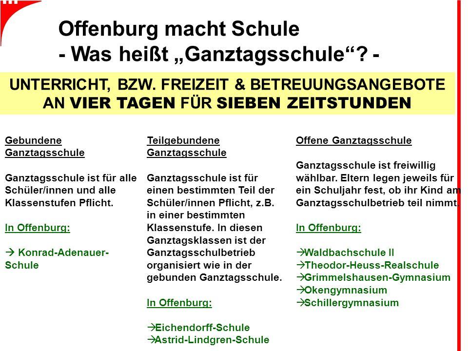 """Offenburg macht Schule - Was heißt """"Ganztagsschule ."""