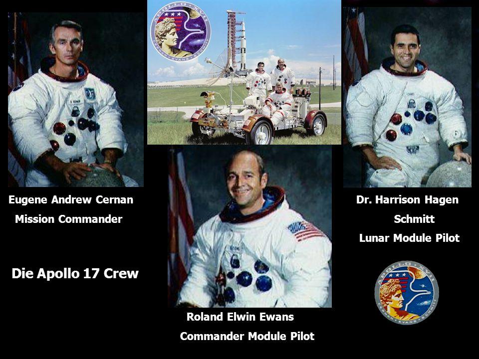 Eugene Andrew Cernan Mission Commander Roland Elwin Ewans Commander Module Pilot Dr.