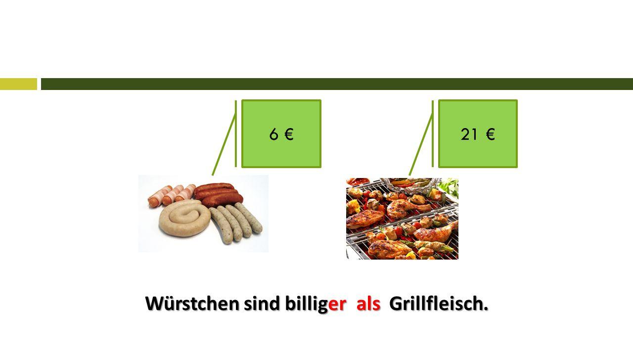 Würstchen sind billig Grillfleisch. 6 €21 € erals