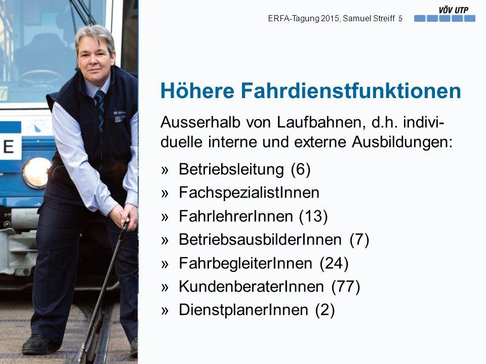 Höhere Fahrdienstfunktionen Ausserhalb von Laufbahnen, d.h.
