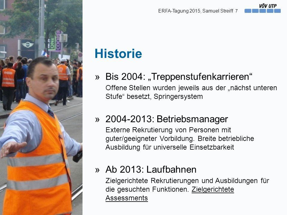 """Historie »Bis 2004: """"Treppenstufenkarrieren"""" Offene Stellen wurden jeweils aus der """"nächst unteren Stufe"""" besetzt, Springersystem »2004-2013: Betriebs"""