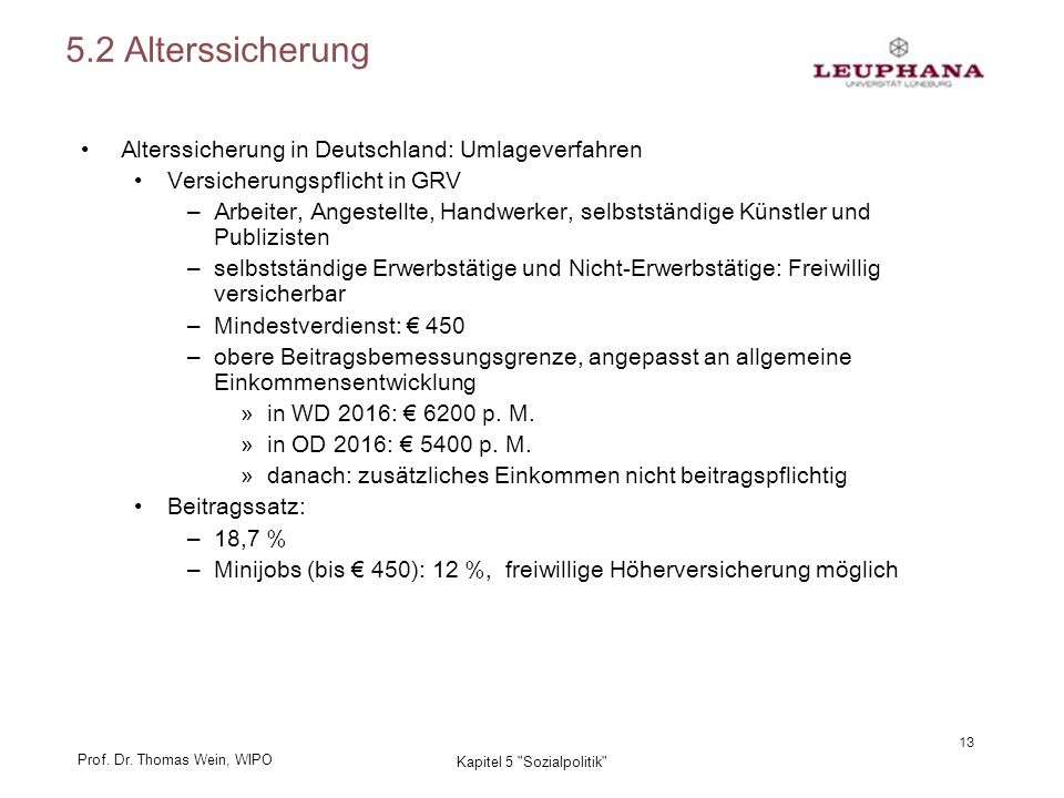 Prof. Dr. Thomas Wein, WIPO 13 Kapitel 5