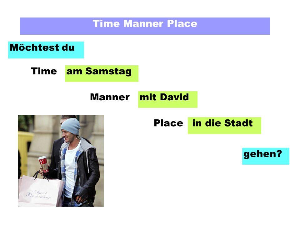 Time Manner Place Möchtest du am Freitag mit Gok Wan in die Disko gehen? Time Manner Place