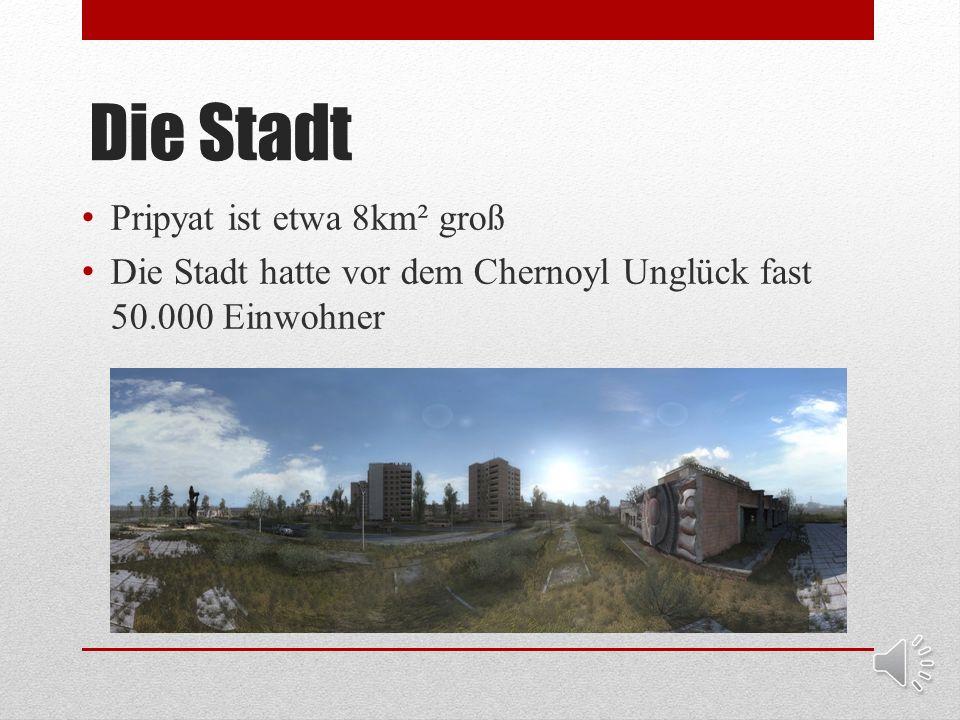 Die Stadt Pripyat ist eine kleine Geisterstadt in der Ukraine Die Stadt wurde 1970 in der damaligen Soviet Union gegründet. Pripyat liegt etwa 4km von