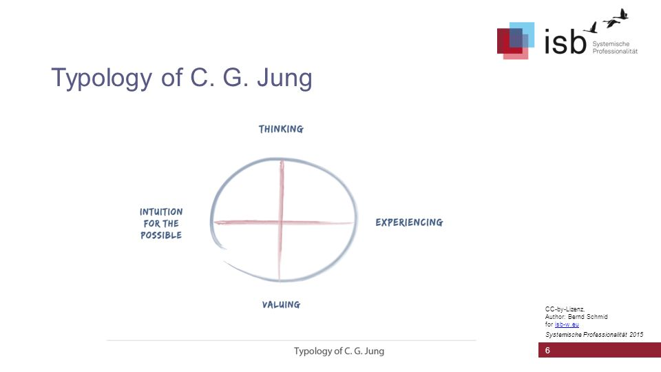 CC-by-Lizenz, Author: Bernd Schmid for isb-w.euisb-w.eu Systemische Professionalität 2015 Typology of C. G. Jung 6