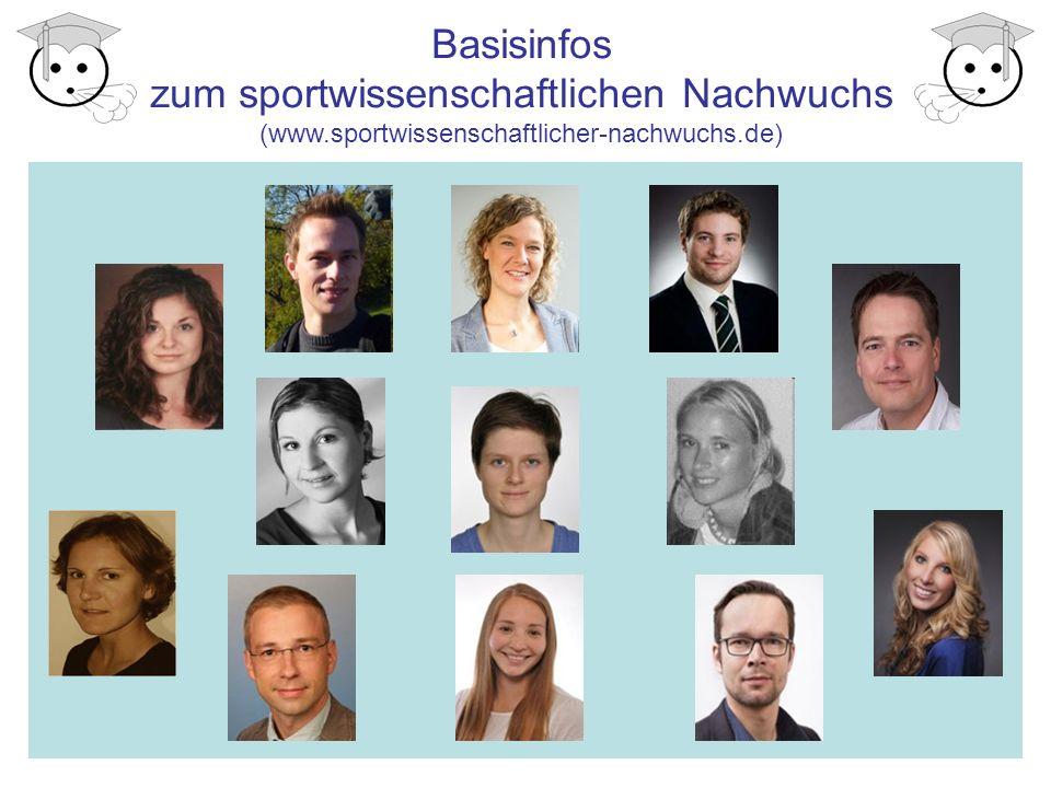 Basisinfos zum sportwissenschaftlichen Nachwuchs (www.sportwissenschaftlicher-nachwuchs.de)