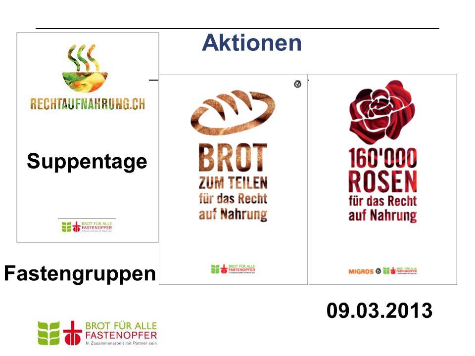 Aktionen 09.03.2013 Suppentage Fastengruppen