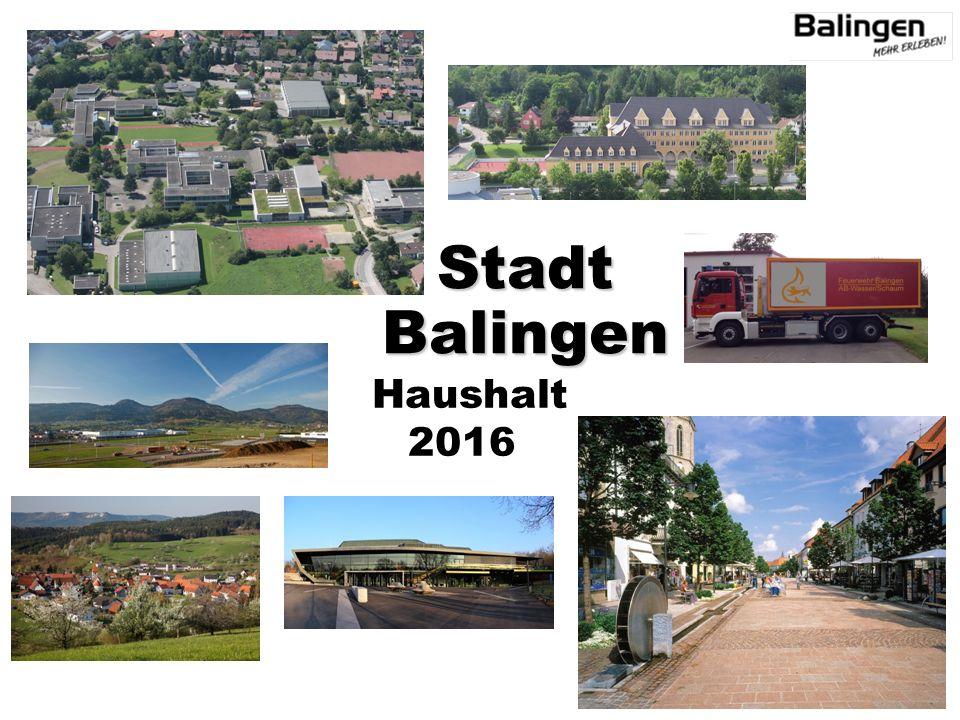 Haushalt 2016 StadtBalingen