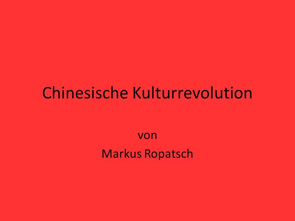 Chinesische Kulturrevolution von Markus Ropatsch