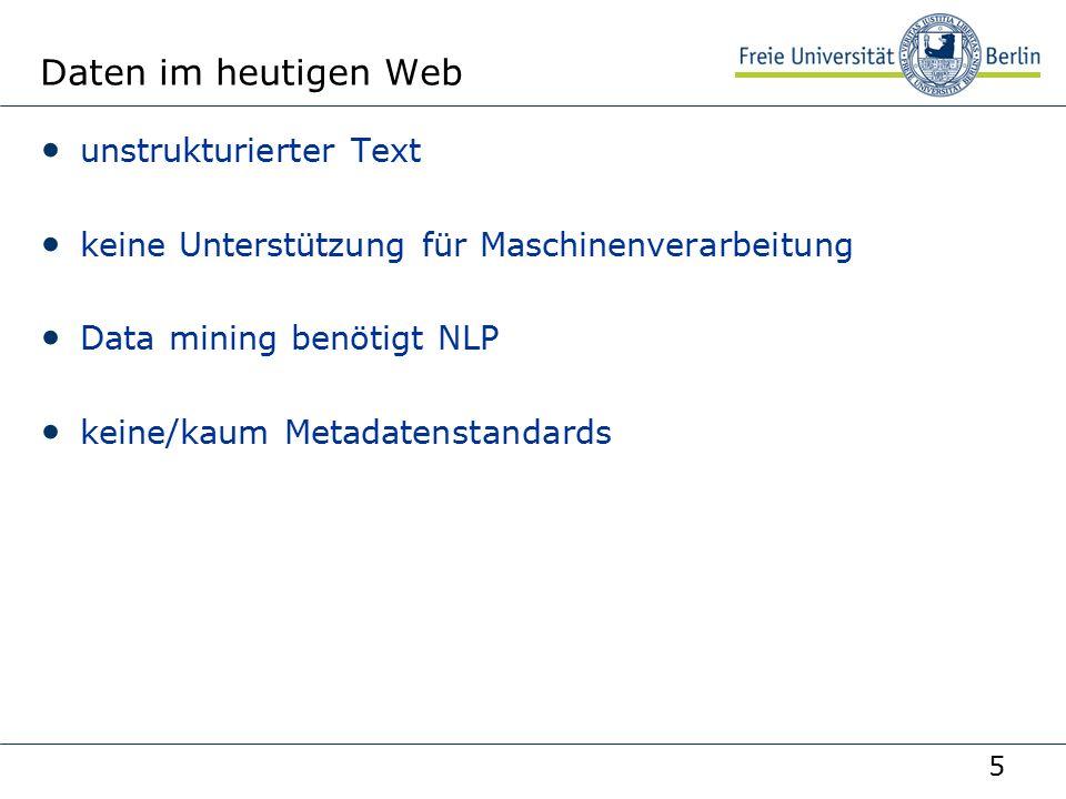 """36 AG Netzbasierte Informationssysteme http://www.ag-nbi.de Beispiel Aussage: Die Vorlesung """"XML-Technologien wird veranstaltet von Robert Tolksdorf und Marko Harasic V XML-URI _x:1 Veranstalter www.robert-tolksdorf.de/Robert MH URI_x:2 rdf:nil rdf:first rdf:rest Blank Node rdf:first rdf:rest"""