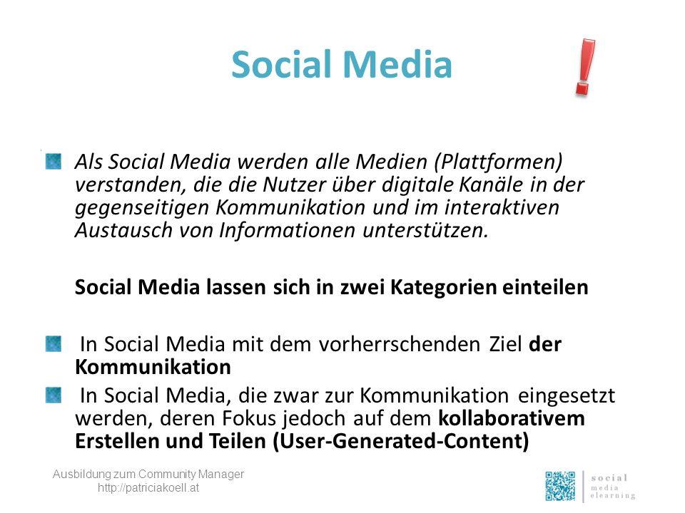 Social Media Als Social Media werden alle Medien (Plattformen) verstanden, die die Nutzer über digitale Kanäle in der gegenseitigen Kommunikation und im interaktiven Austausch von Informationen unterstützen.