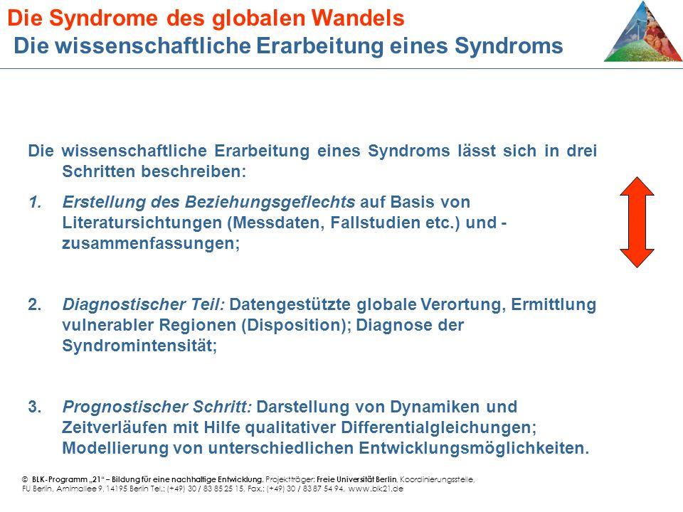 Die wissenschaftliche Erarbeitung eines Syndroms lässt sich in drei Schritten beschreiben: 1.Erstellung des Beziehungsgeflechts auf Basis von Literatu
