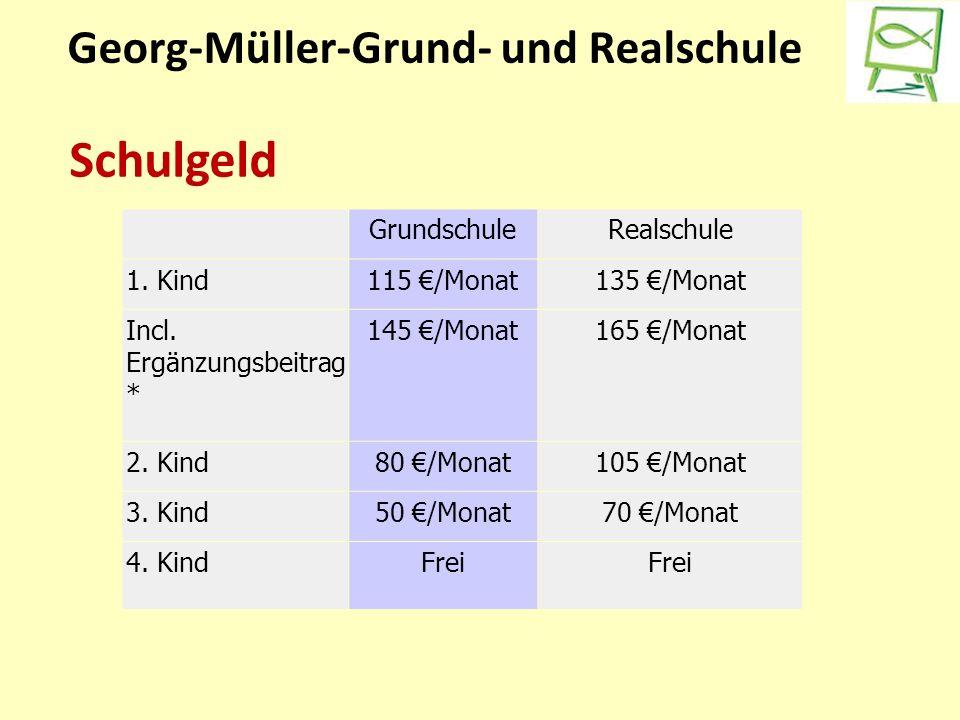 Georg-Müller-Grund- und Realschule Schulgeld GrundschuleRealschule 1.