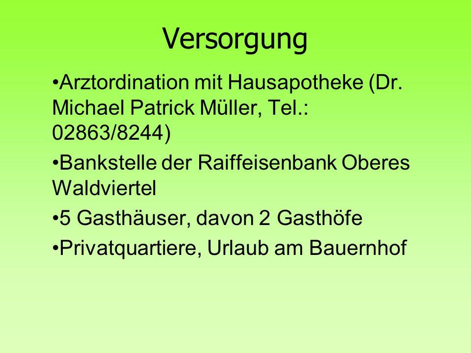 Versorgung Arztordination mit Hausapotheke (Dr.