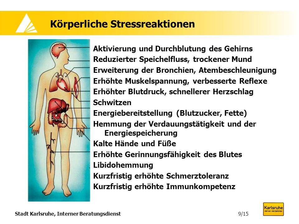 Stadt Karlsruhe, Interner Beratungsdienst9/15 Aktivierung und Durchblutung des Gehirns Reduzierter Speichelfluss, trockener Mund Erweiterung der Bronc