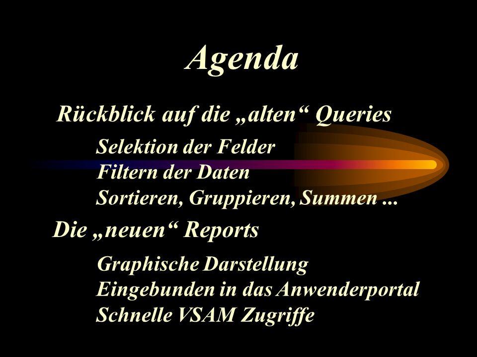 """Agenda Rückblick auf die """"alten Queries Selektion der Felder Filtern der Daten Sortieren, Gruppieren, Summen..."""