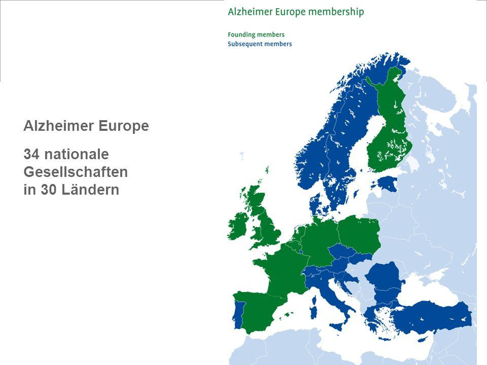 2 Alzheimer Europe 34 nationale Gesellschaften in 30 Ländern