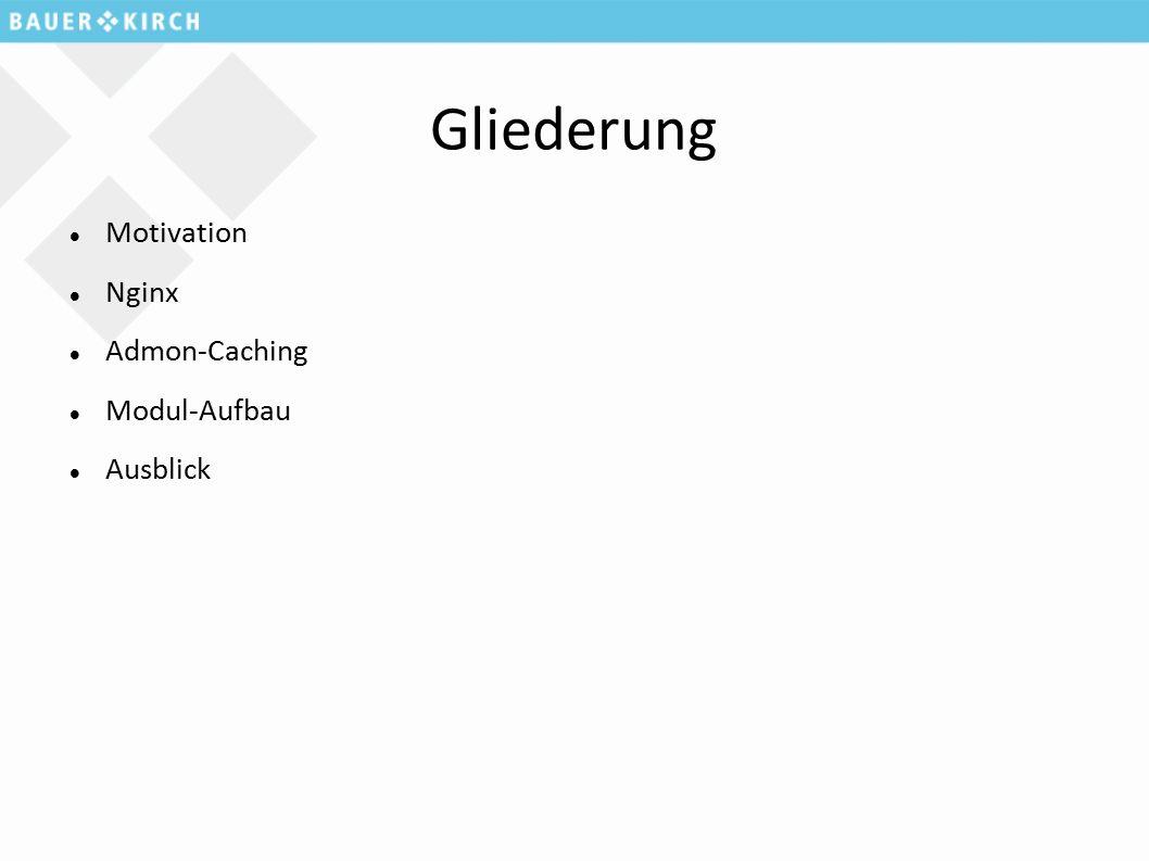 Gliederung Motivation Nginx Admon-Caching Modul-Aufbau Ausblick