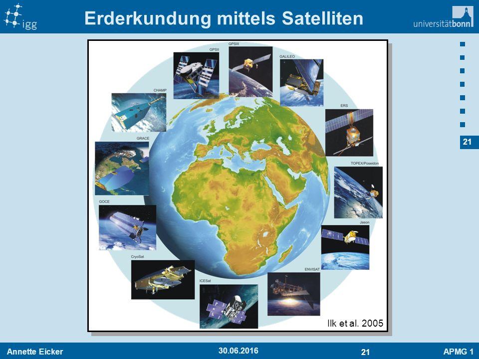 Annette EickerAPMG 1 21 30.06.2016 Erderkundung mittels Satelliten Ilk et al. 2005