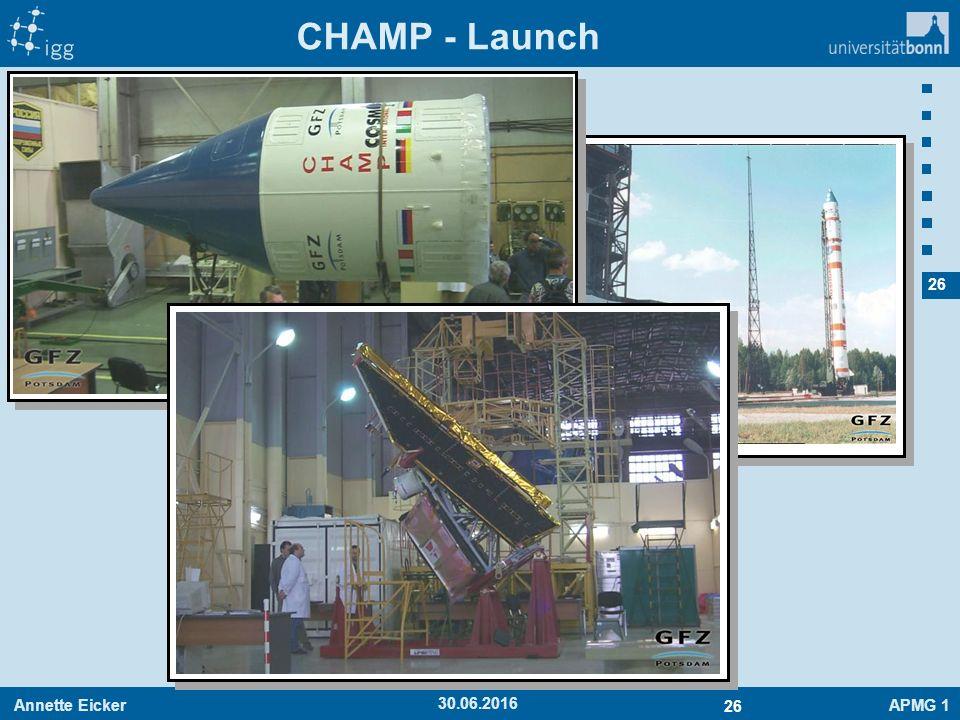 Annette EickerAPMG 1 26 30.06.2016 CHAMP - Launch