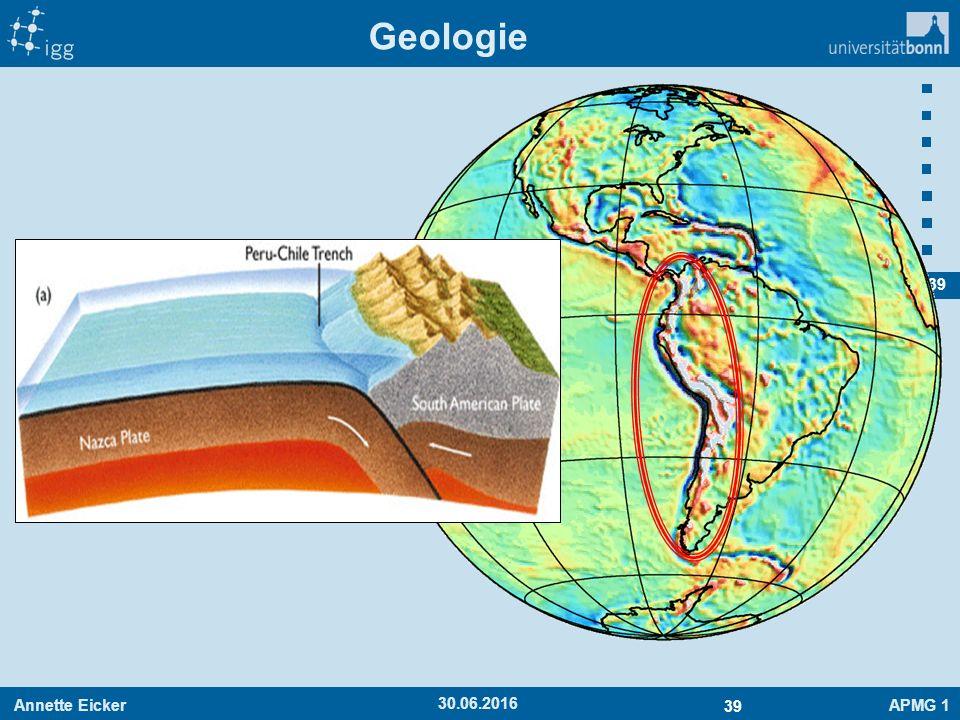 Annette EickerAPMG 1 39 30.06.2016 Geologie
