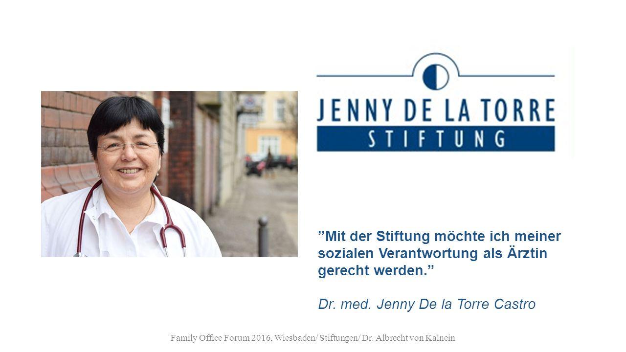 Mit der Stiftung möchte ich meiner sozialen Verantwortung als Ärztin gerecht werden. Dr.