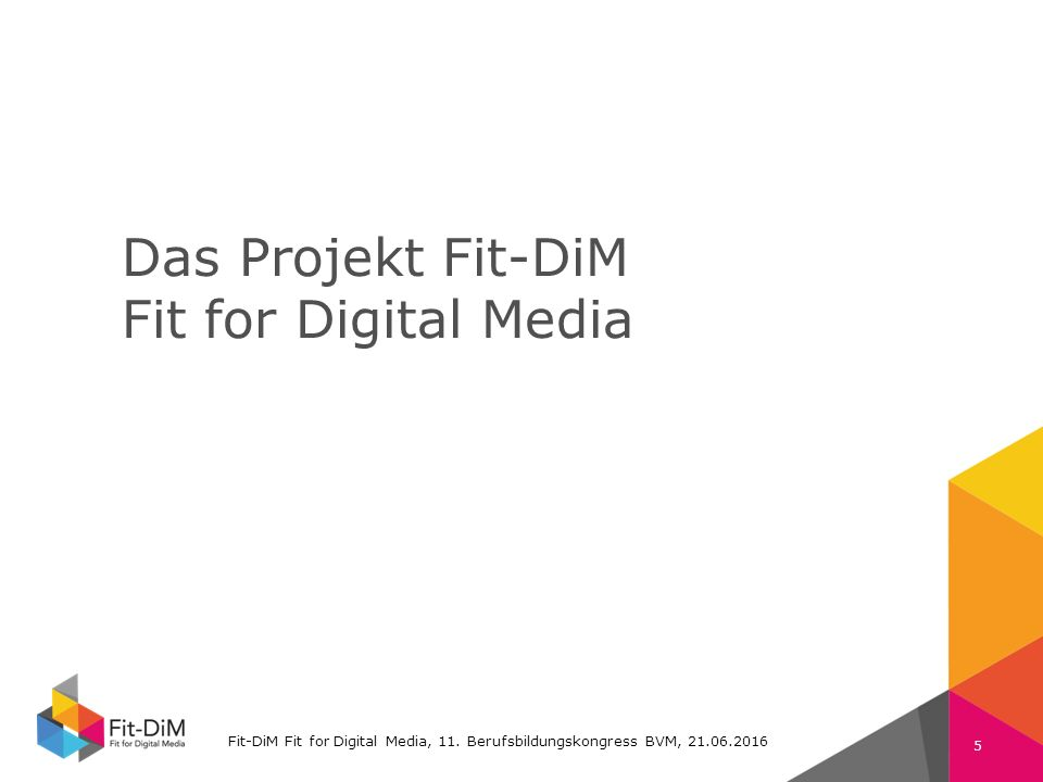 Fit-DiM Farben RGB Schrift: Verdana 225 11 105 74 132 196 80 80 80 130 130 130 Das Projekt Fit-DiM Fit for Digital Media Fit-DiM Fit for Digital Media, 11.