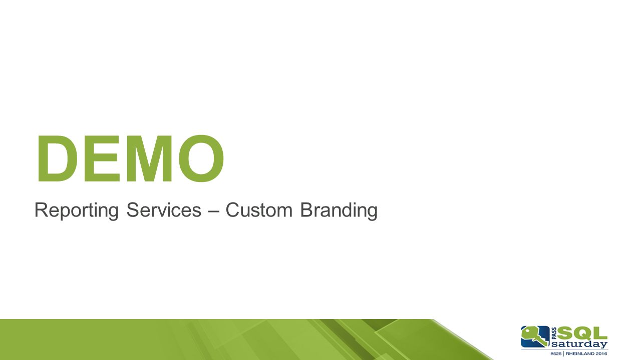 DEMO Reporting Services – Custom Branding