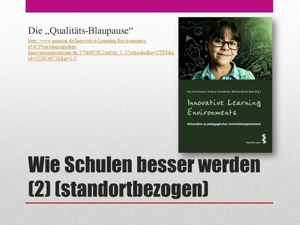 """Wie Schulen besser werden (2) (standortbezogen) Die """"Qualitäts-Blaupause http://www.amazon.de/Innovative-Learning-Environments- p%C3%A4dagogischen- Innovationsprozessen/dp/3708907922/ref=sr_1_3?s=books&ie=UTF8&q id=1326546718&sr=1-3"""