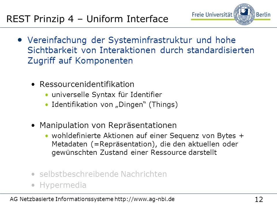 12 Vereinfachung der Systeminfrastruktur und hohe Sichtbarkeit von Interaktionen durch standardisierten Zugriff auf Komponenten Ressourcenidentifikati