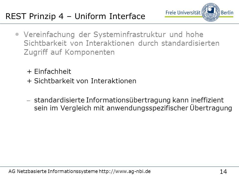14 Vereinfachung der Systeminfrastruktur und hohe Sichtbarkeit von Interaktionen durch standardisierten Zugriff auf Komponenten +Einfachheit +Sichtbar