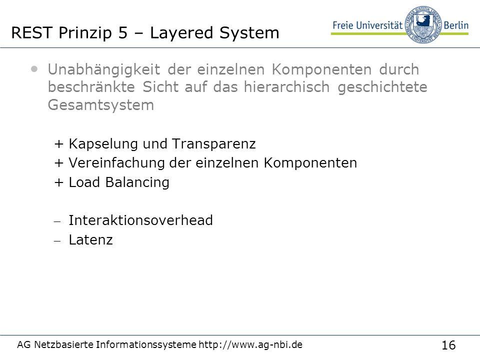 16 Unabhängigkeit der einzelnen Komponenten durch beschränkte Sicht auf das hierarchisch geschichtete Gesamtsystem +Kapselung und Transparenz +Vereinf