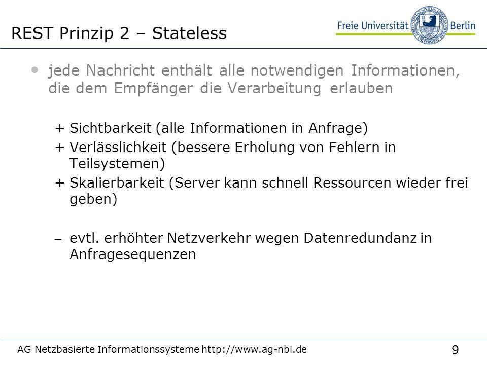 9 jede Nachricht enthält alle notwendigen Informationen, die dem Empfänger die Verarbeitung erlauben +Sichtbarkeit (alle Informationen in Anfrage) +Ve