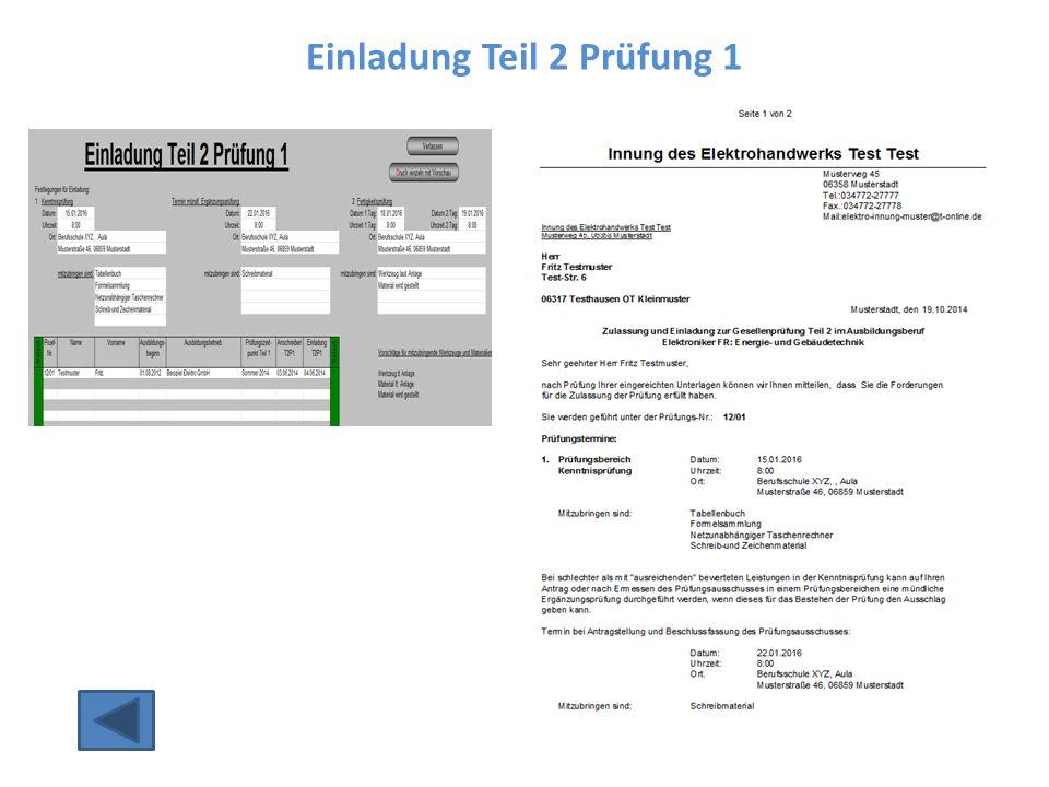 Einladung Teil 2 Prüfung 1