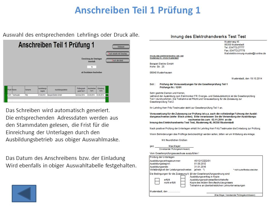 Auswertung / Wiederholer Verwaltung / Statistik...