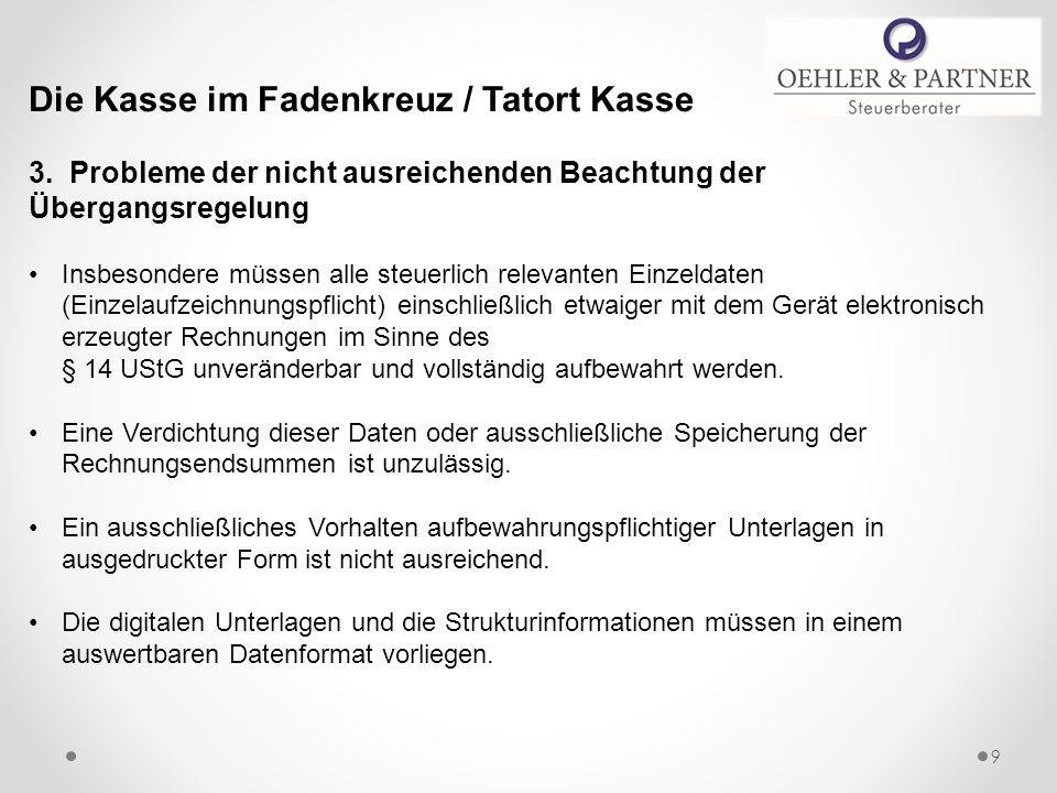Die Kasse im Fadenkreuz / Tatort Kasse 3.