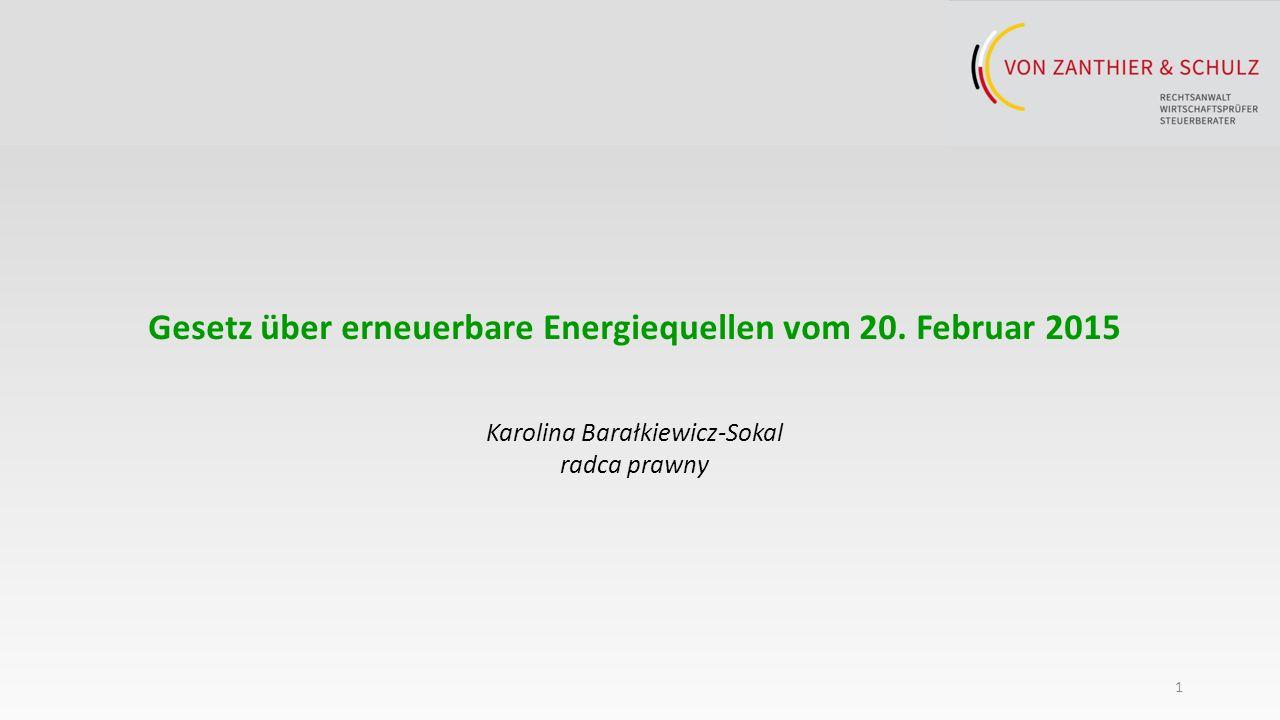 1 Gesetz über erneuerbare Energiequellen vom 20.