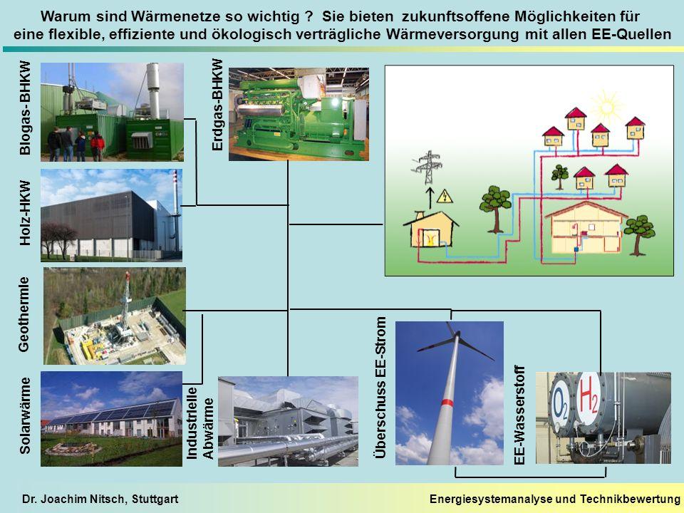 Energiesystemanalyse und TechnikbewertungDr. Joachim Nitsch, Stuttgart Warum sind Wärmenetze so wichtig ? Sie bieten zukunftsoffene Möglichkeiten für