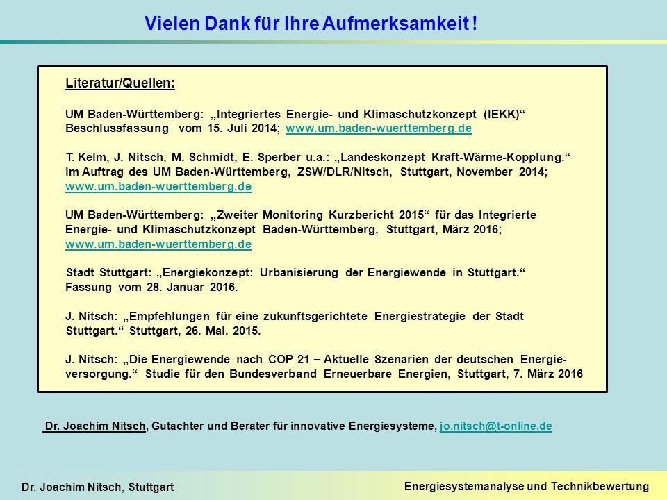 """Dr. Joachim Nitsch, Stuttgart Literatur/Quellen: UM Baden-Württemberg: """"Integriertes Energie- und Klimaschutzkonzept (IEKK)"""" Beschlussfassung vom 15."""