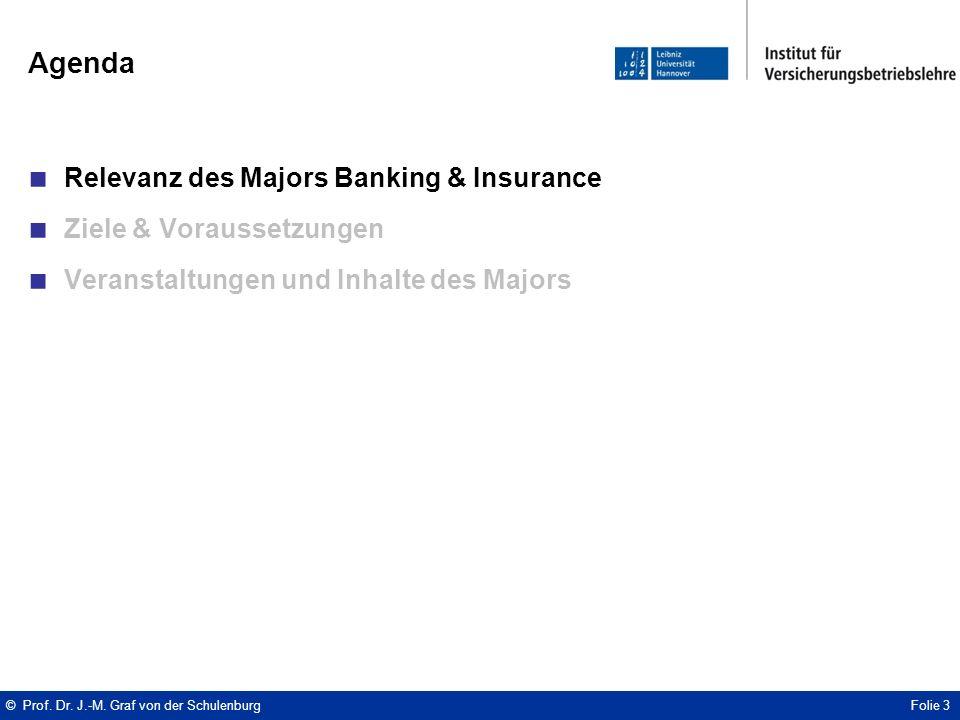 Agenda ■ Relevanz des Majors Banking & Insurance ■ Ziele & Voraussetzungen ■ Veranstaltungen und Inhalte des Majors © Prof.