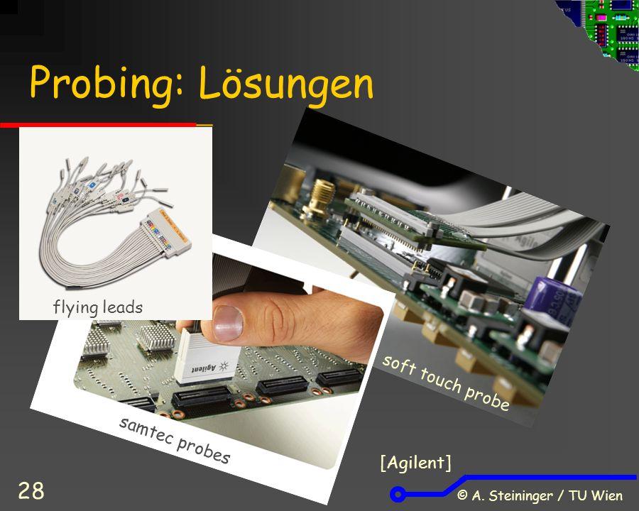© A. Steininger / TU Wien 28 Probing: Lösungen flying leads samtec probes soft touch probe [Agilent]