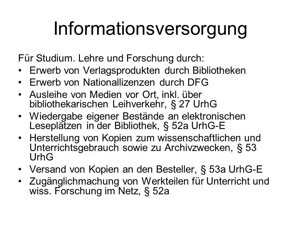 Informationsversorgung Für Studium.