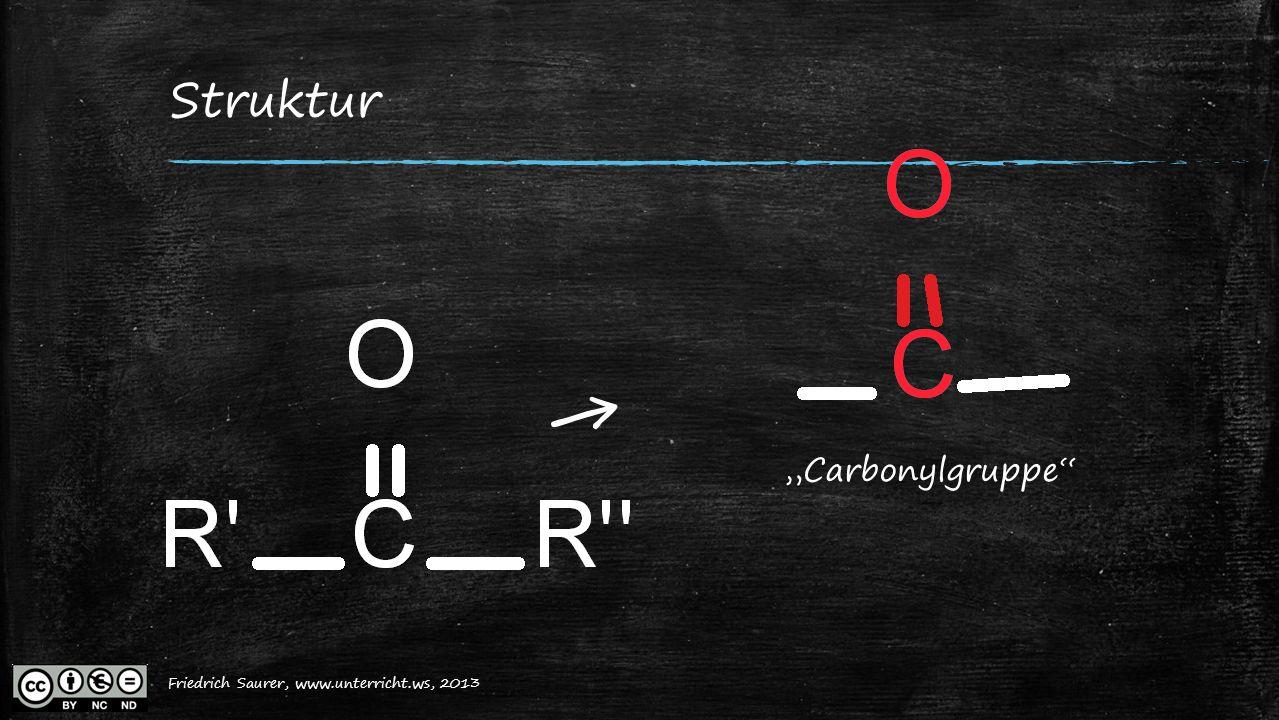 """Friedrich Saurer, 2013, www.unterricht.ws Struktur ← """"Carbonylgruppe"""" Friedrich Saurer, www.unterricht.ws, 2013"""