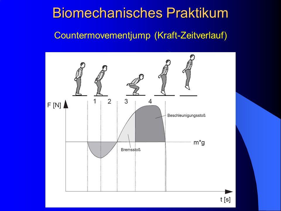 Countermovementjump (Kraft-Zeitverlauf) Biomechanisches Praktikum