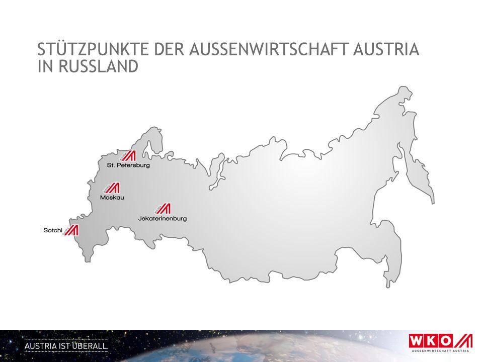 STÜTZPUNKTE DER AUSSENWIRTSCHAFT AUSTRIA IN RUSSLAND